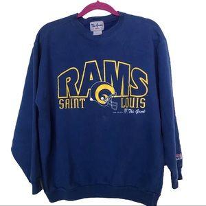 Vintage Rams St Louis 1995 Crewneck Sweater Sz M